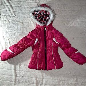 London Fog Girls Puffer Coat sz S (7/8) EUC Pink